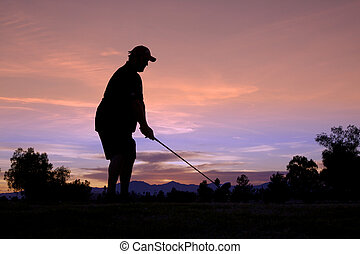 Teeing Off at Sunrise