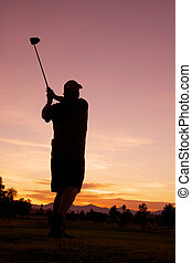 Golfing at Sunrise