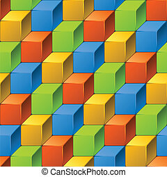 Abstract seamless pattern of cubes