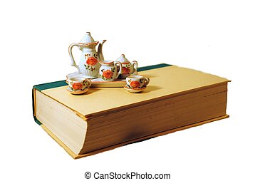 Tea Time - Mini Tea set on a book