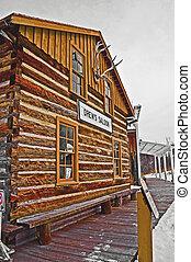 frontier saloon building