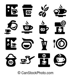 coffee icons set - Elegant Coffee Icons Set Created For...