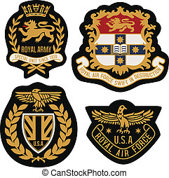 royal emblem badge shield