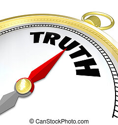 Truth Word Compass Conscience Lead to Honesty Sincerity -...