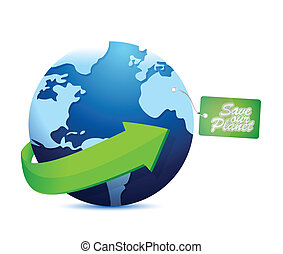 save the planet tag