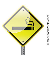 smoking ahead sign