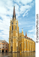 Cathedral in Novi Sad - Novi Sad Cathedral after a rainy...