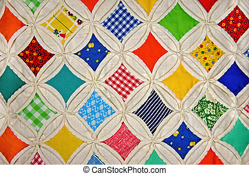 cathedral window quilt - Cathedral window design for old...