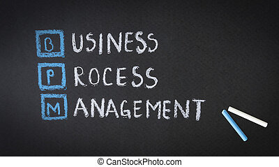 Business Process Management chalk illustration on a...