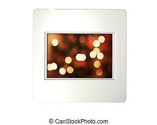 slide - 3D White slide isolated on white background