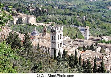 Urban scene in Assisi, Italy