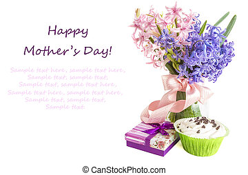 Mothers Day Concept flowers - Gift for Mothers Day with...