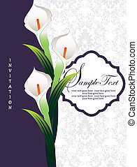 wedding invitation - Calla lily, wedding invitation card
