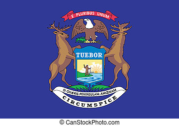 Flag of the American State of Michigan - The Flag of the...