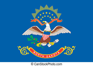 Flag of the American State of North Dakota - The Flag of the...