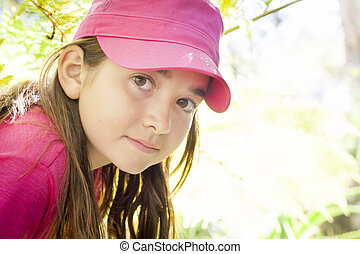 Young Child Girl Portrait Outside