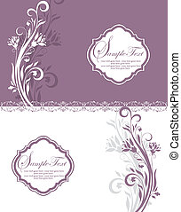 Purple Floral Bridal Shower Invitat - purple and white...