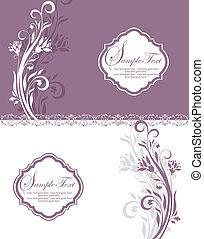 Purple Floral Bridal Shower Invitat - purple and white...
