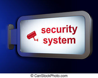 Privacy concept: Security System and Cctv Camera on...
