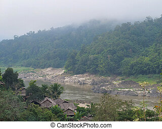 Salween river in Mae Hong Son province between Thailand and...