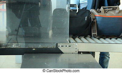 X-Ray Inspection System. Luggage at