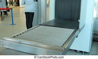 X-Ray Inspection System Luggage at the airport
