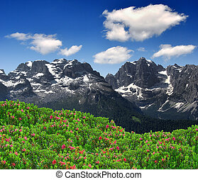 Brenta-Dolomites Italy - view of the mountain...