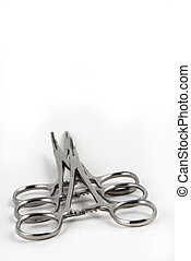 Hemostats and clamps - Stock pictures of hemostats used in...