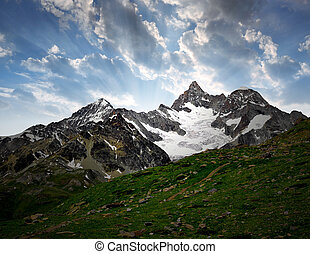 Ober Gabelhorn - sunrise on the Ober Gabelhorn - Swiss Alps...