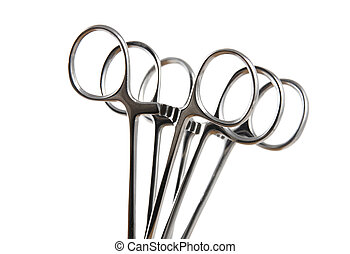 Hemostats - Stock pictures of hemostats used in surgery and...