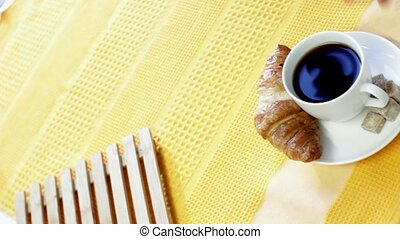 French Breakfast With Sunshine - Colorful and sunny video of...