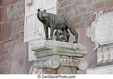 Capitoline Wolf - Romulus and Remus with the she-wolf