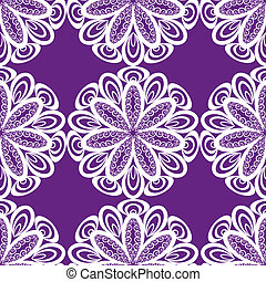 Seamless abstract ornament, openwork doily, vector