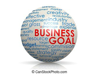Business goal sphere - Rendered artwork with white...