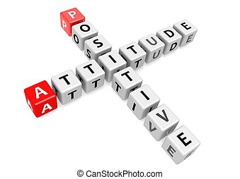 Positive attitude - Rendered artwork with white background