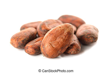 cocoa beans - Cocoa beans isolated on white background