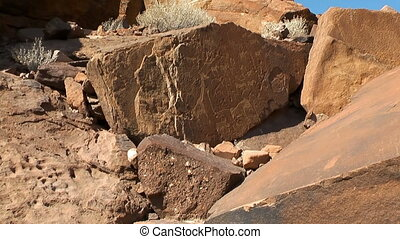 ancient rock engravings in namibia - twyfelfontein ancient...