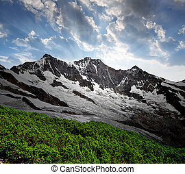 Swiss alps  - Dom and Taschhorn - Swiss alps