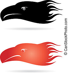 Eagle head. EPS 10 vector illustration