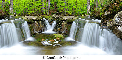 waterfalls in the Bavarian Forest-Germany