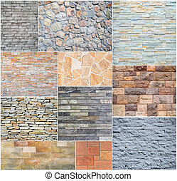 Stone wall collage