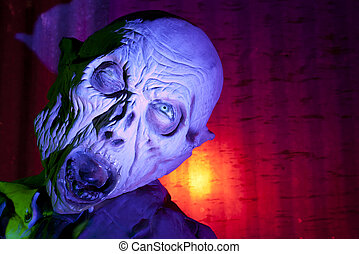 Creepy Monster - Screaming Demon in Haunted House