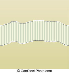 Beige Torn Paper Reveal Stripes Panel - Background design...
