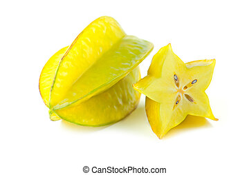 carambola isolated on white background