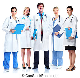 Group of medical doctor - Group of medical doctors Isolated...