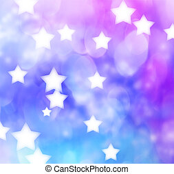 Blue, Purple, Star Lights Background - Abstract Blue,...