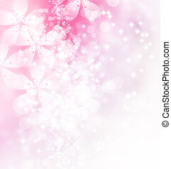 Blossoms and Bokeh Illustration - Blossoms and bokeh pastel...