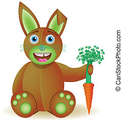 Bunny toy with carrot.