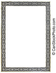 Moroccan Pewter Mirror Frame - Empty Vitage Moroccan Pewter...