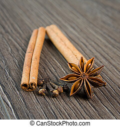 cinnamon, cloves and anise
